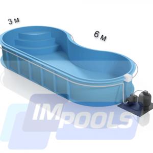 Полипропиленовый бассейн фасоль