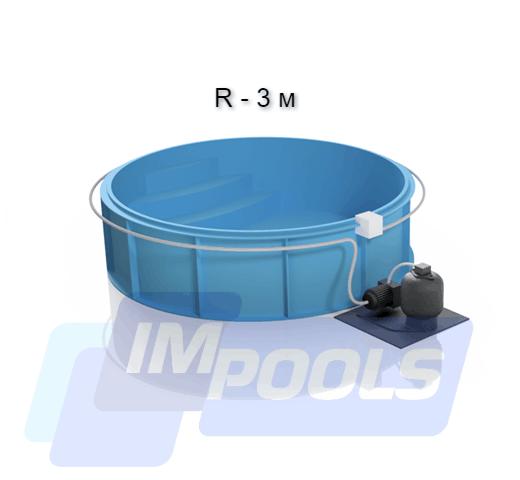 Полипропиленовый бассейн круглый