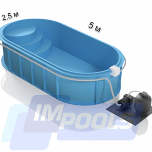 Полипропиленовый бассейн овальный